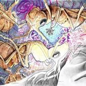 Ant Dream by Judah Fansler. Mixed media, graphite, ink pens, marker