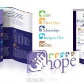 Charity Branding & Design by Judah Creative (Branson, MO - Springfield, MO). Logo and subset logos design, business card design, brochure design, website design.