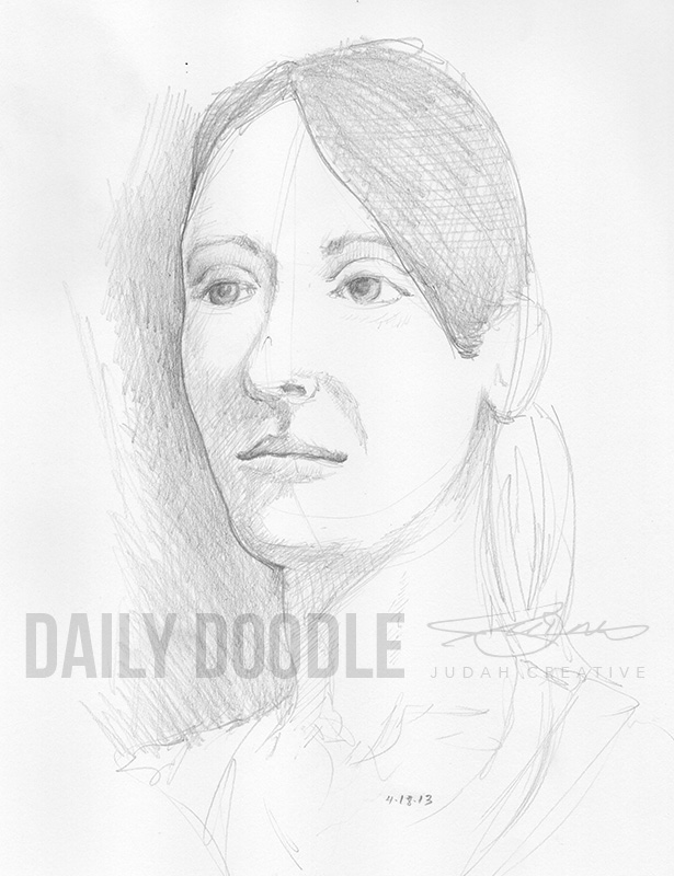 Jenni Sketch by Judah Fansler (Yet another Daily Doodle) - Design Ninja, Artist, Owner at Judah Creative near Branson & Springfield, MO.