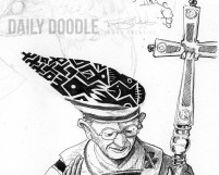 The New Pope - Phase 3 by Judah Fansler (Yet another Daily Doodle) - Design Ninja, Artist, Owner at Judah Creative near Branson & Springfield, MO.