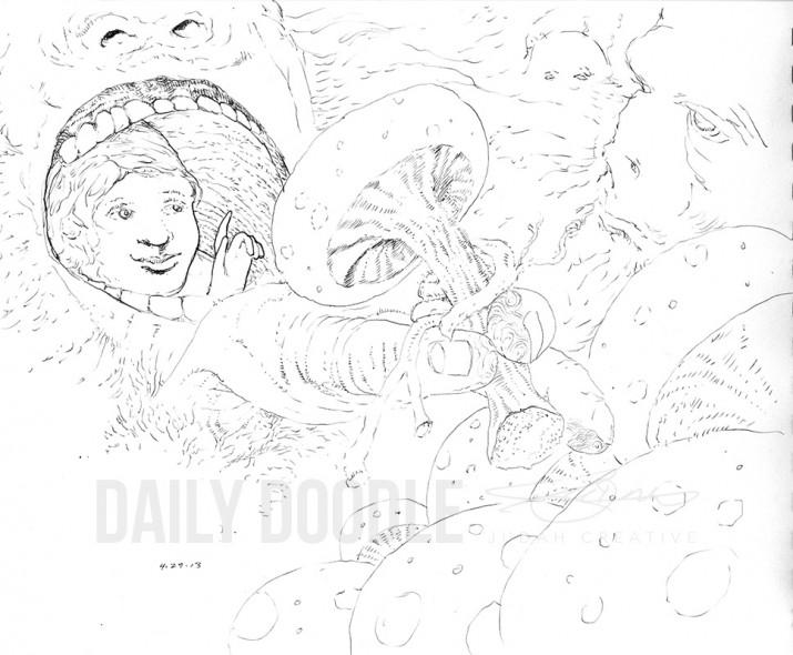 Shroom Picker by Judah Fansler (Yet another Daily Doodle) - Design Ninja, Artist, Owner at Judah Creative near Branson & Springfield, MO.