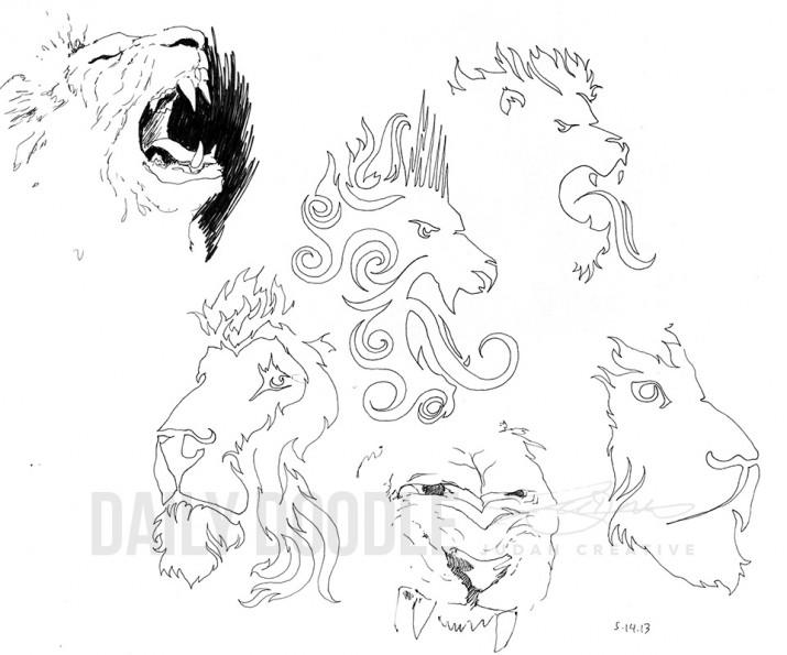 Lion Doodles by Judah Fansler (Yet another Daily Doodle) - Design Ninja, Artist, Owner at Judah Creative, a Graphic Design & Illustraiton Studio near Branson & Springfield, MO.