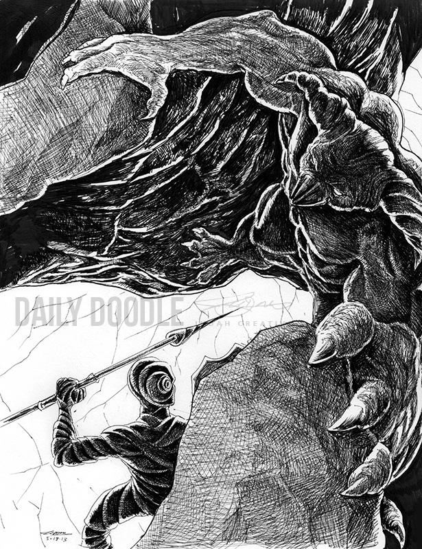 Untitled Character Illustration by Judah Fansler (Yet another Daily Doodle) - Design Ninja, Artist, Owner at Judah Creative, a Graphic Design & Illustraiton Studio near Branson & Springfield, MO.