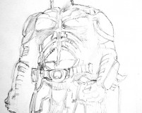 Dark Knight Pencil Sketch by Judah Fansler (Yet another Daily Doodle) - Design Ninja, Artist, Owner at Judah Creative, a Graphic Design & Illustraiton Studio near Branson & Springfield, MO.