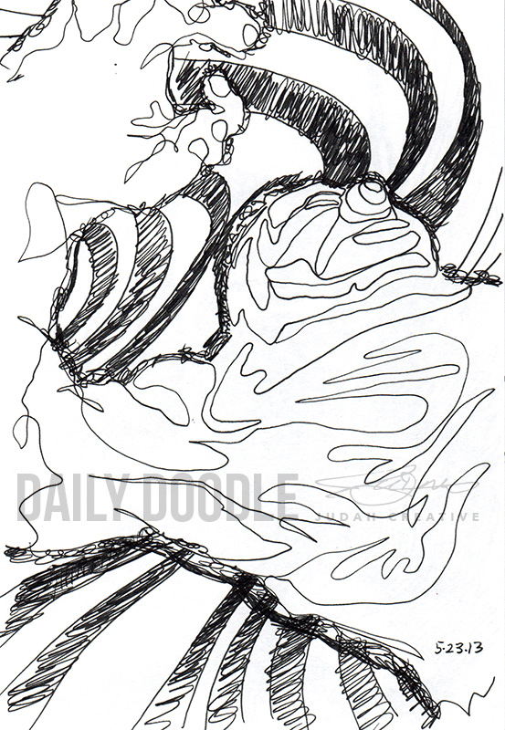 Untitled Squiggle Man - Sketch by Judah Fansler (Yet another Daily Doodle) - Design Ninja, Artist, Owner at Judah Creative, a Graphic Design & Illustraiton Studio near Branson & Springfield, MO.