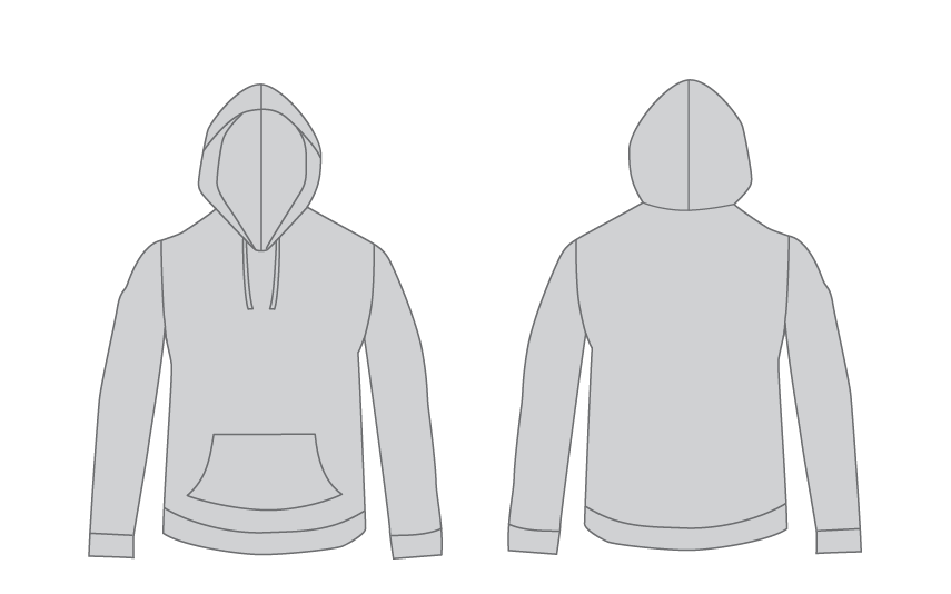 Free Vector Hoodie Template For Designers - Judah Creative