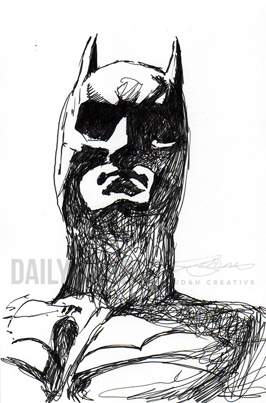Dark Knight Doodle by Judah Fansler (Yet another Daily Doodle) - Design Ninja, Artist, Owner at Judah Creative, a Graphic Design & Illustraiton Studio near Branson & Springfield, MO.