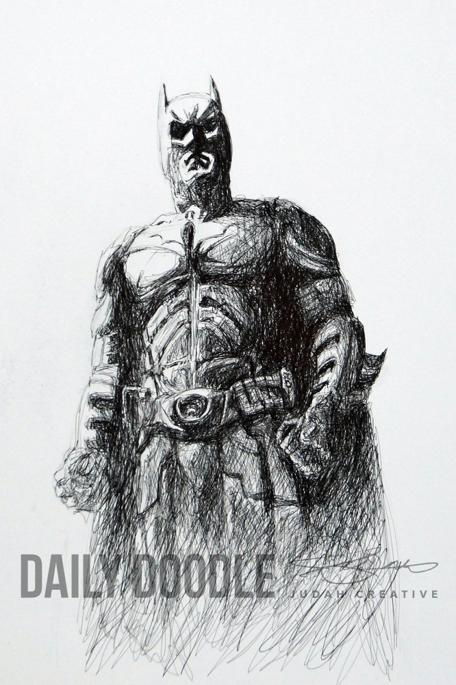 The Dark Knight - Illustration Phase 2 by Judah Fansler (Yet another Daily Doodle) - Design Ninja, Artist, Owner at Judah Creative, a Graphic Design & Illustration Studio near Branson & Springfield, MO.