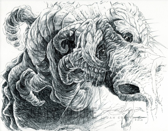 Lonely Power - Dragon Illustration by Judah Fansler (Yet another Daily Doodle) - Design Ninja, Artist, Owner at Judah Creative, a Graphic Design & Illustraiton Studio near Branson & Springfield, MO.