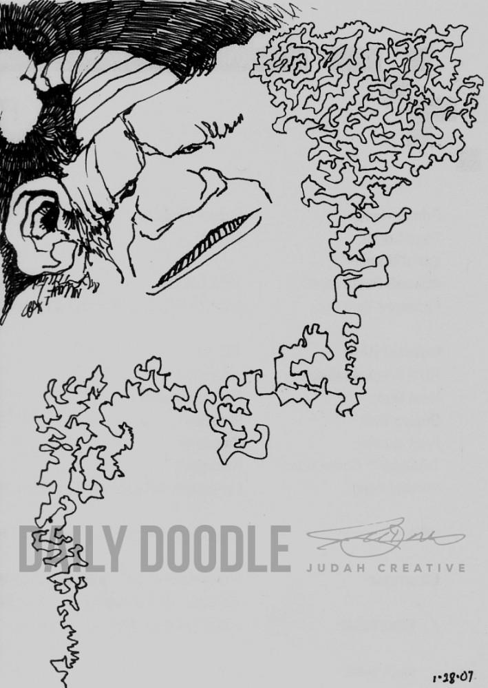 Bearded Scribble by Judah Fansler – Artist, Designer, Owner at Judah Creative, a full service Graphic Design & Illustration studio near Branson and Springfield, MO.