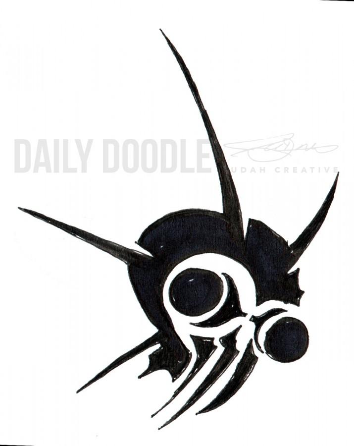 Sci-Fi Creature Design: Killer Locust Head Logo