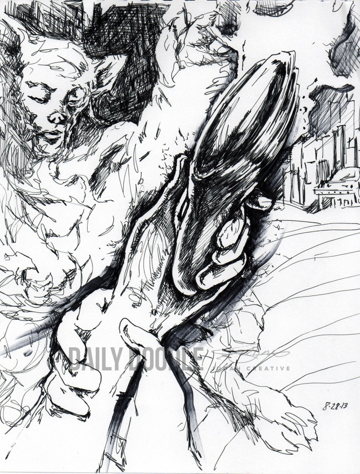 08.29.13 Bizarre Untitled Doodle by Judah Fansler – Design Ninja, Artist, Owner at Judah Creative: Graphic Design & Illustration studio near Branson and Springfield, MO.