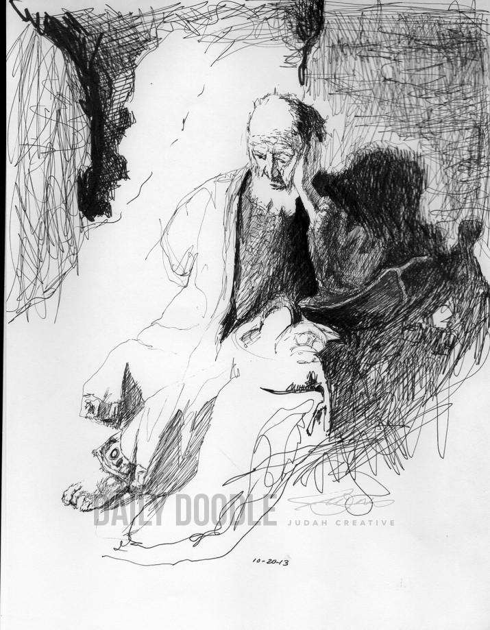 102013 Rembrandt Sketch by Judah Fansler
