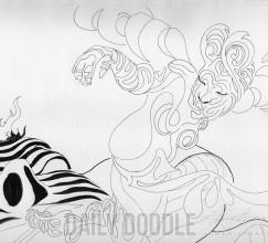 102213 Squiggle Fairy by Judah Fansler, Artist & Owner at Judah Creative, a full service graphic design & Illustration studio near Branson, MO & Springfield, MO