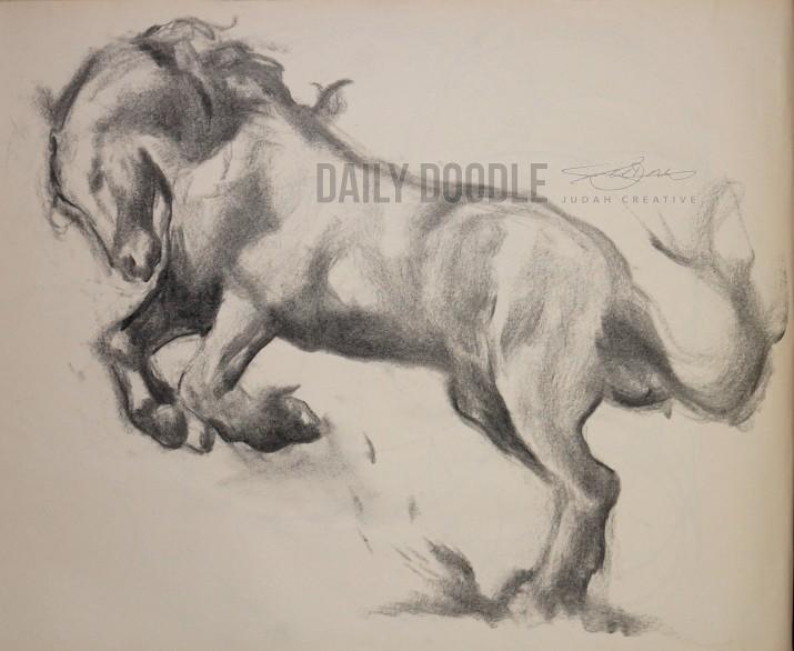 112113 Black Stallion by Judah Fansler, Artist & Owner at Judah Creative, a full service graphic design & Illustration studio near Branson, MO & Springfield, MO