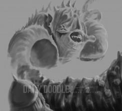 011314 Sea Monster Coloring - Phase 1 by Judah Fansler, Artist & Owner at Judah Creative, a full service graphic design & Illustration studio near Branson, MO & Springfield, MO