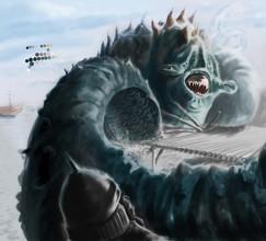 011714 Sea Monster Phase 4 by Judah Fansler, Artist, Designer, Illustrator at Judah Creative, A full service Graphic Design & Illustration Studio