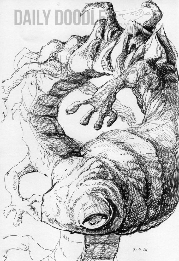 030414 Worm, by Judah Fansler, Artist, Designer, Illustrator at Judah Creative, A full service Graphic Design & Illustration Studio