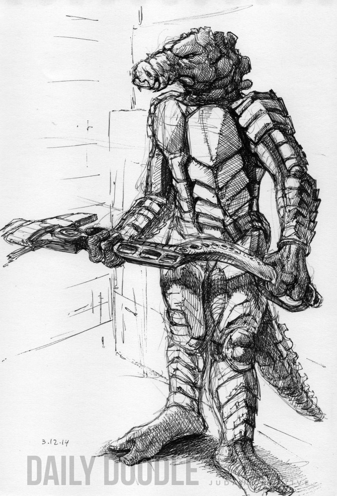 031714 Sci Fi Character Doodle by Judah Fansler, Artist, Designer, Illustrator at Judah Creative, A full service Graphic Design & Illustration Studio