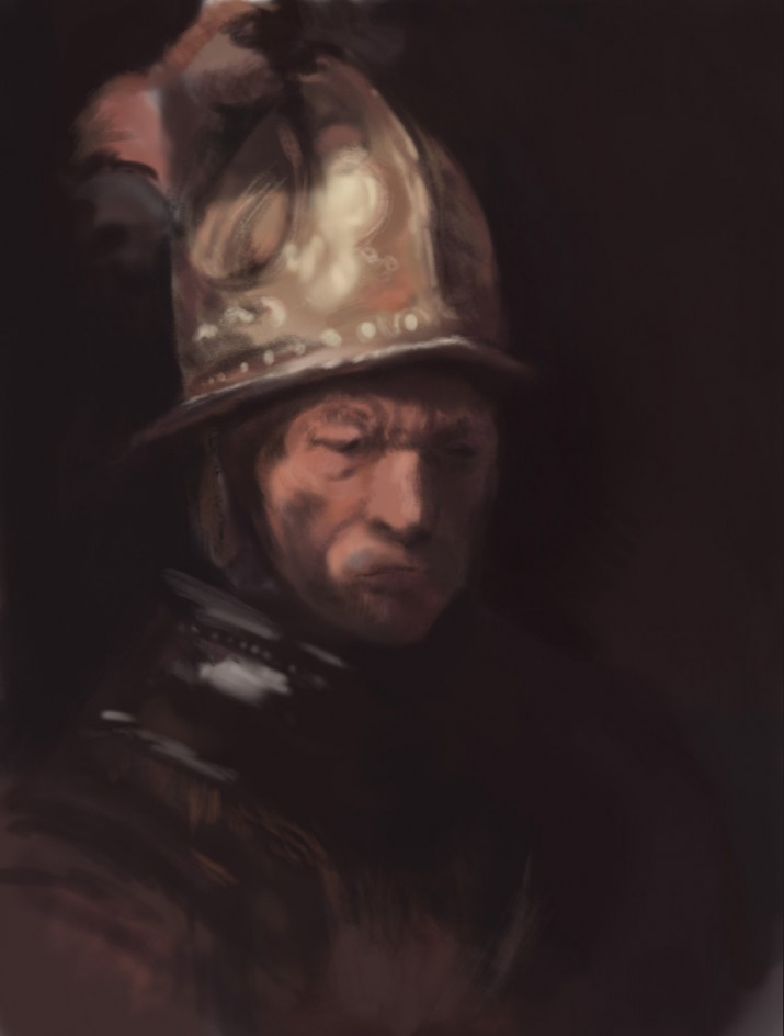 032714-Digital Doodle #8: Rembrandt-Study by Judah Fansler, Artist, Designer, Illustrator at Judah Creative, A full service Graphic Design & Illustration Studio