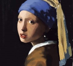 032914 Vermeer Study_phase 2 by Judah Fansler, Artist, Designer, Illustrator at Judah Creative, A full service Graphic Design & Illustration Studio